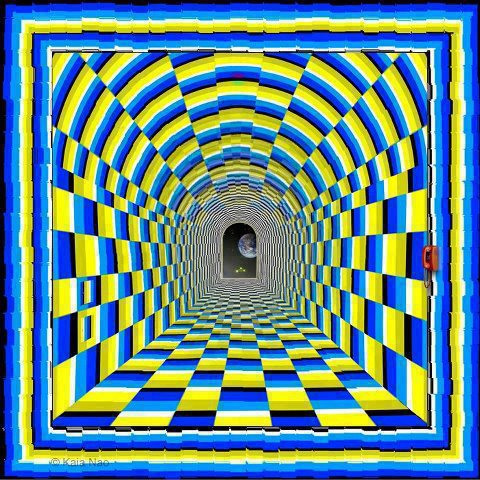 Illusion d'optique de Kaia Nao