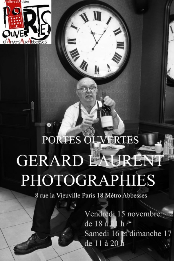 Gérard LAURENT Photographies portes ouvertes - 17 au 18 nov 2013