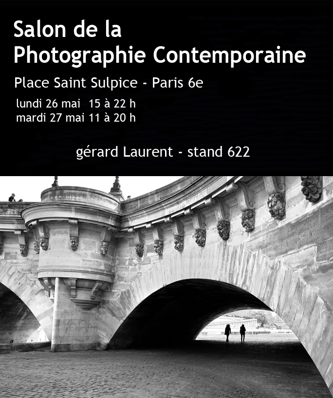Gérard Laurent expose au salon de la Photo Contemporaine place st Sulpice les 26 et 27 mai 2014