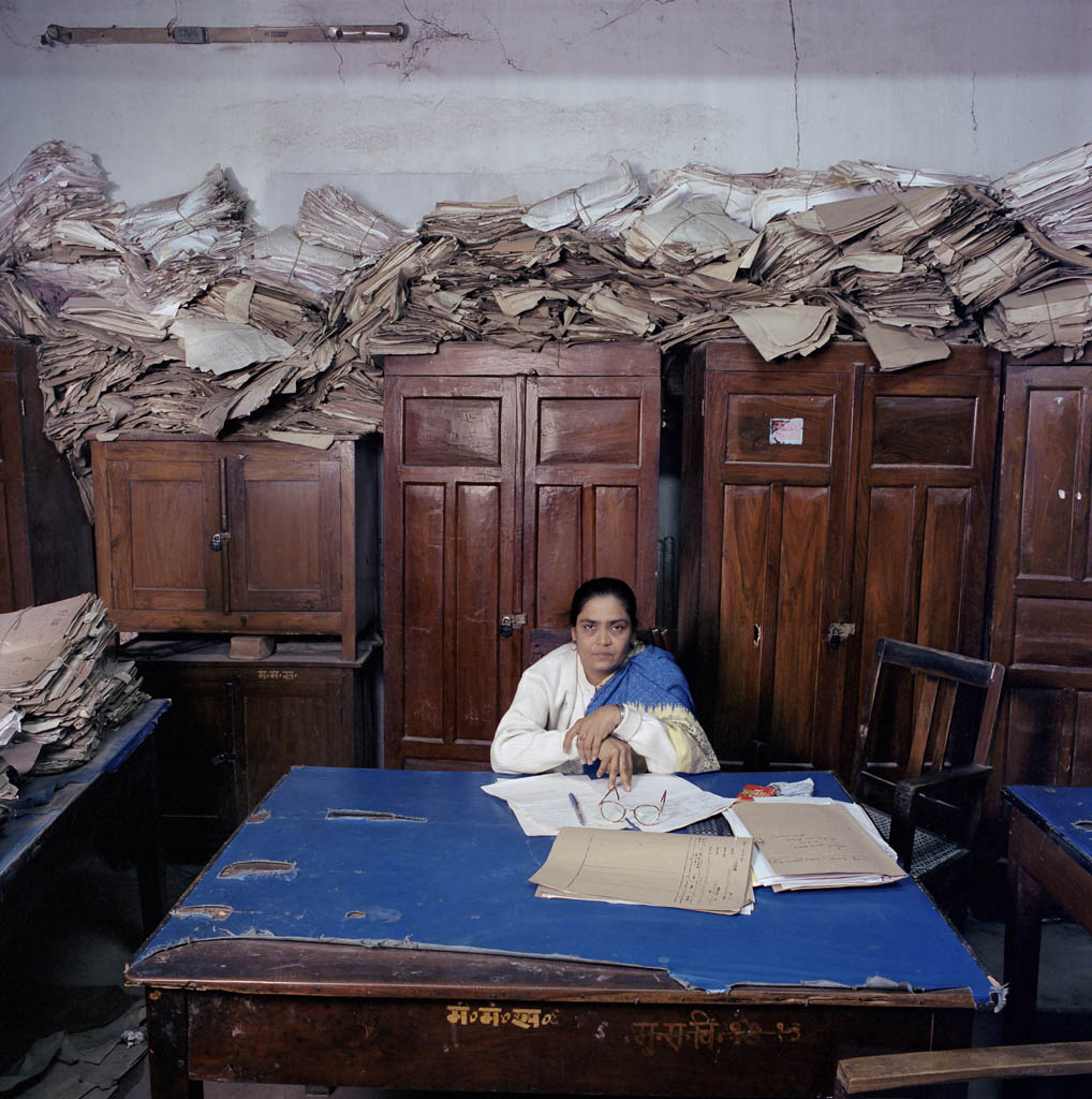 India, bureaucracy, Bihar, (c) Jan Banning 2004.