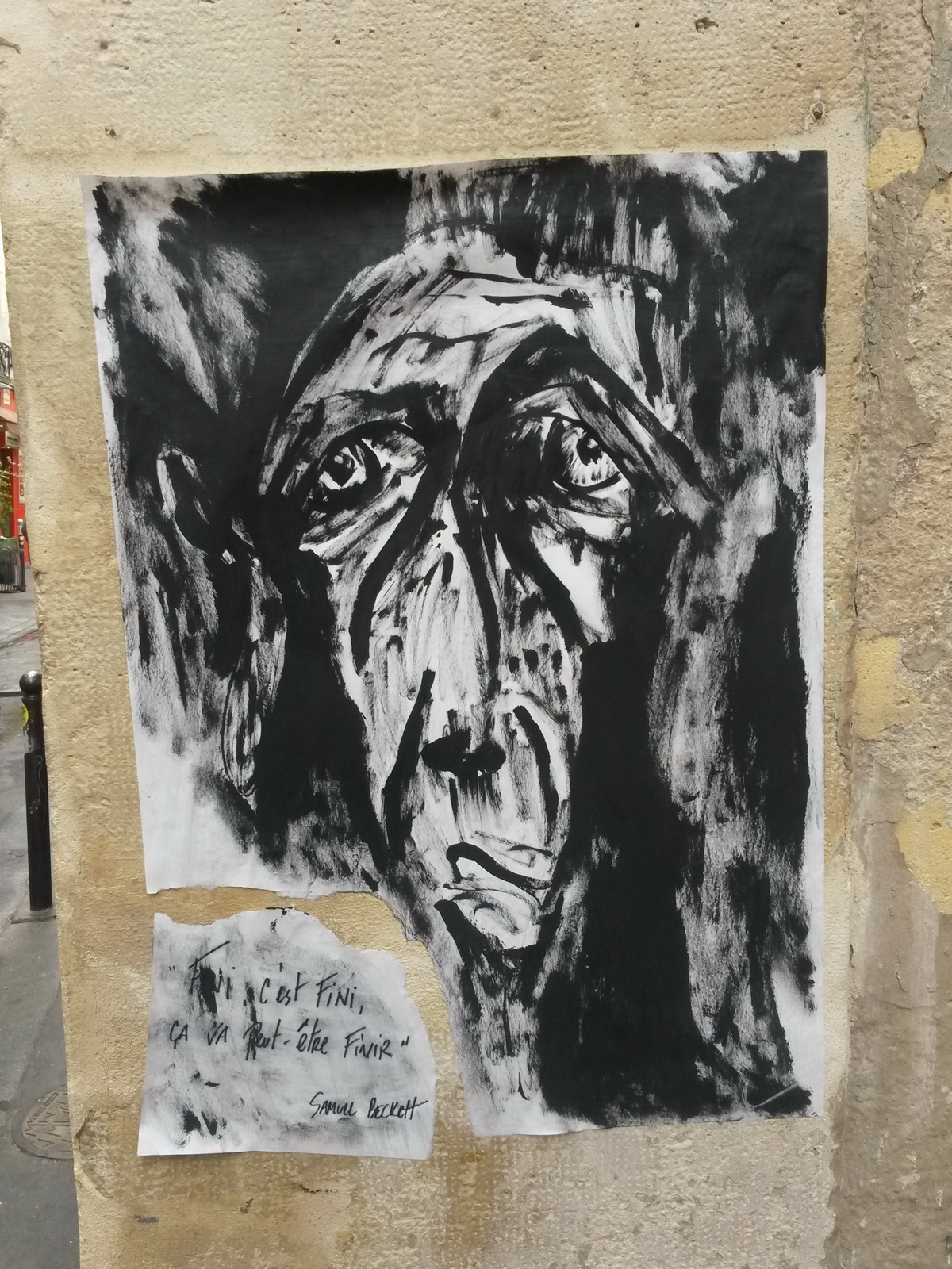 Street Art : Samuel Beckett au secours